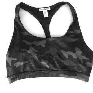 Forever 21 Black Camo Sportsbra Medium